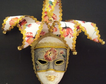 Venetian Ceramic  Jester Mask Handmade Wall Decoration