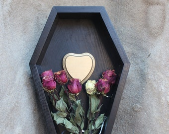 Gothic Coffin Shadow Box with Wall Hanger