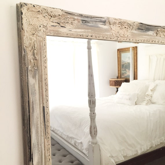 antique white distressed mirror shabby chic mirror bathroom 20338