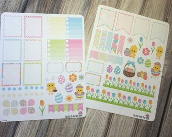 Easter full weekly set. Perfect for the Erin Condren Life Planner!!! Vertical or horizontal layout!