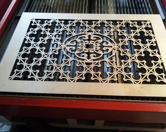 Laser cutted furniture element