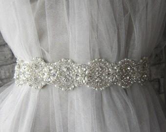 Bridal Sash Belt/Rhinestones Bridal Belt, Wedding Sash Belt, Wedding Dress Belt, crystal rhinestone belt