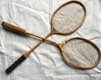 Vintage Badminton Raquets (Pair)