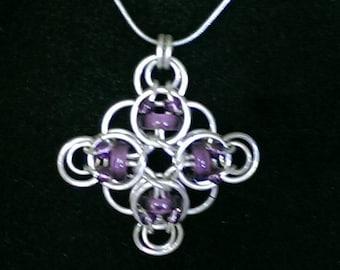 Chain Mail Celtic Cross Pendant