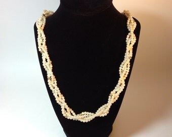 Braided Pearl Costume Jewelry Necklace Fashion Jewelry FREE SHIPPING