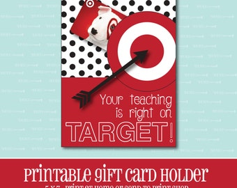 INSTANT DOWNLOAD, Target Gift card Holder, Amazing Teacher, Gift Card Holder, Teacher Appreciation Gift, Printable, Printable Gift Card