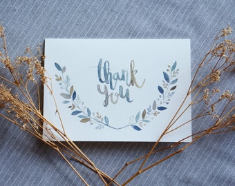 THANK YOU |  Handdrawn Watercolour Cards