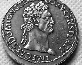 Ancient Roman coin of Roman Emperor Domitian,an Original copy from 153AD, a Large and Heavy coin NOW 3 sent for every 2 you order,