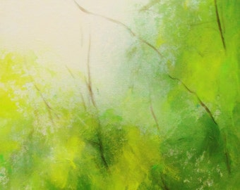 Giclee Print, Landscape Painting, Contemporary Painting, Wall Decor, Wall Art. Summer in the air