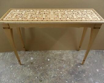 Original marquetry sofa / hall table.