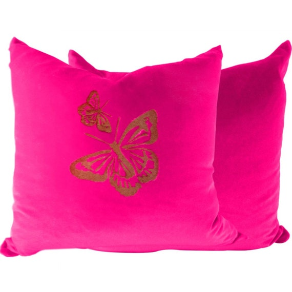 Set of 2 in Pink Velvet for Couch, Sofa or Livingroom in 16x16, 18x18, 20x20