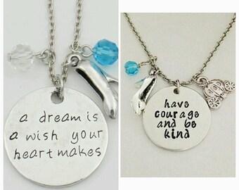 Cinderella quote necklaces