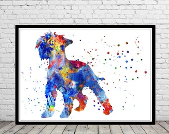 Miniature schnauzer, watercolor schnauzer, schnauzer, schnauzer print, dog art, dog, Kids Room Decor, watercolor Miniature schnauzer (303b)