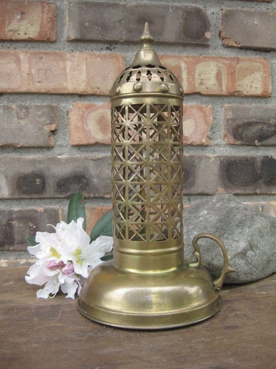 Turkish Pierced Brass Candle Lamp Brass Chamber Candle