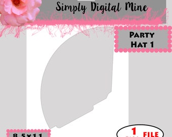 YOU Design!!! Party Hat #1  Templates!!