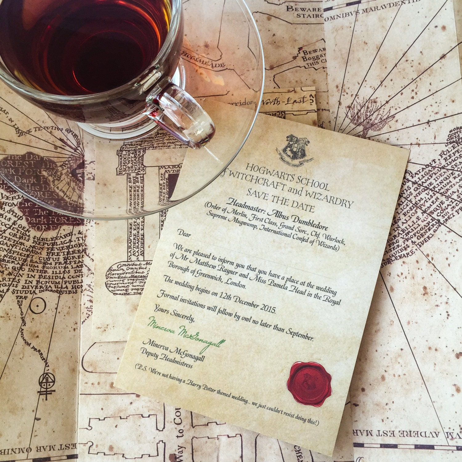 Hogwarts Acceptance Letter Save The Date Wedding Geeky Harry