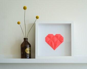 DIY Faceted Heart Tangram Paper Craft Kit