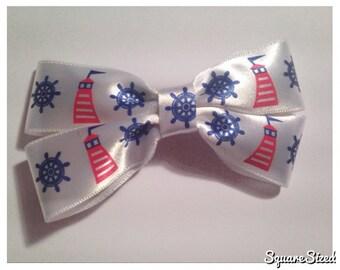 White Sailor Bow