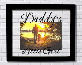 Daddy's Little Girl Frame - Floating Frame - Photo Picture Frame - Father Gift Father's Day Dada Daddy Present