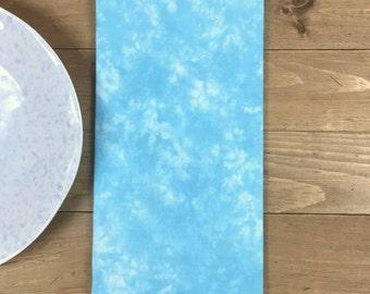 Turquoise Tea Towel - Blue Kitchen Towel - Flour Sack Towel, Hand-Dyed Linens