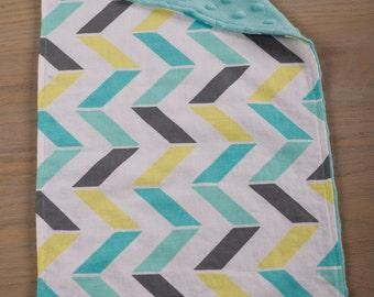 Turquoise Arrow Burp Cloth//Modern Baby Burp Cloth