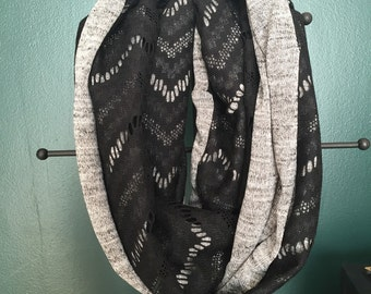Jersey knit & Lace Scarf