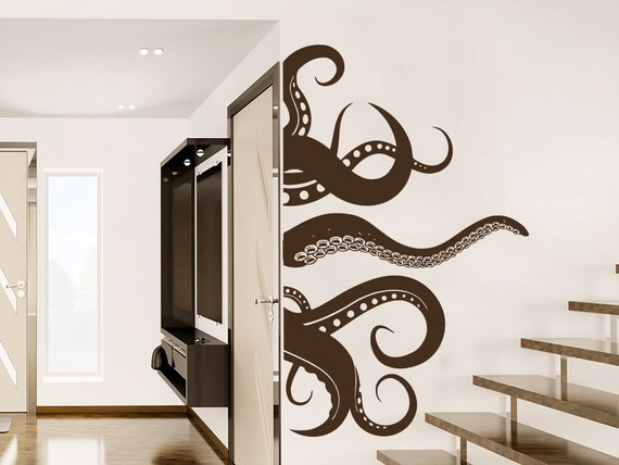 octopus wall decal vinyl sticker decals by creativedecalsforyou. Black Bedroom Furniture Sets. Home Design Ideas