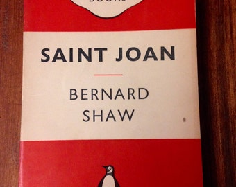 Penguin's Classics book: Saint Joan by George Bernard Shaw. Collectable literature, beautiful book