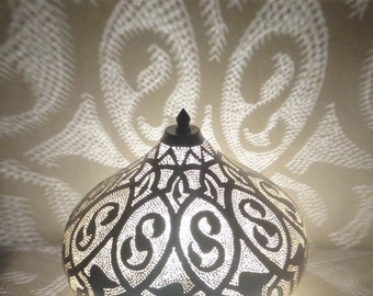 Handmade Chandelier Table Lamp Metal Chrome color