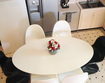 Large Oval Table for Fashion Royalty, Barbie, BJD, Diorama, FR16, Tonner