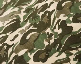 """43"""" Wide Indian Decorative Beige Color Cotton Army Printed Pattern Sewing Crafting For Army Apparel Dress Making Fabric By The Yard ZBC6090"""