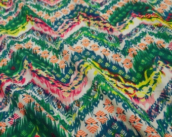 Cotton Fabric Dress Making Apparel Material Sewing Multicolor Cotton Fabric Abstract Printed Light Weight Sewing Fabric By 1 Yard ZBC5808