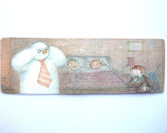 The Snowman double-sided BOOKMARK [Raymond Briggs]