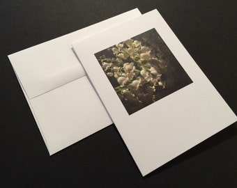 Lily of the Valley. White Flowers. Blank Greeting Card. Note Card. Photo Card.