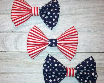 Patriotic Hairbow, Stars and Stripes Hairbow, Memorial Day Hairbow, 4th of July Hairbow, Summer Hairbow, Baby and Girl Hairbow, Bow Headband