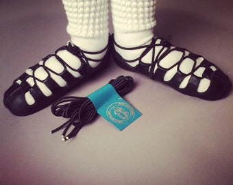 Elastic laces without grips for ghillies / soft shoes -Irish Dance