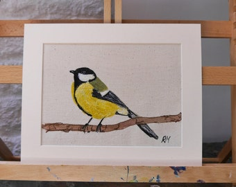 Embroidered Great Tit