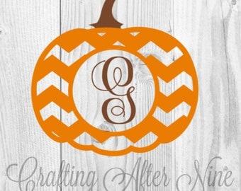 Halloween SVG, Pumpkin Monogram SVG, Fall Svg, Fall Monogram, Monogram Frame SVG, Svg File, Cricut File, Silhouette Studio, Digital Cut File