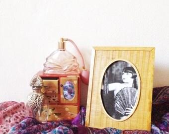 Vintage wicker photo frame