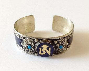 Lapis Turquoise OM Cuff Bracelet