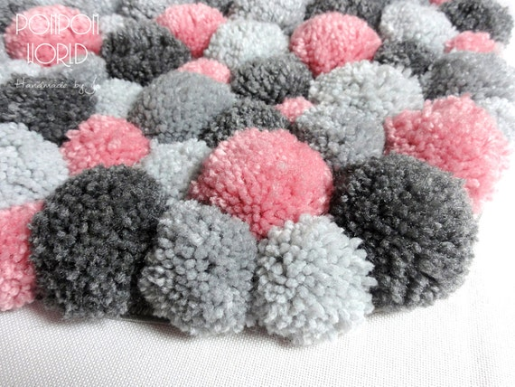 Pom Rug Pompom Carpet Fluffy Handmade By PomPomMyWorld