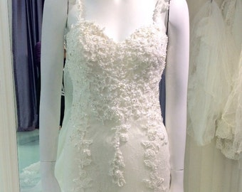 Wedding Dress Manufacturer Ivory Straps Sweetheart Luxrious Crystal Bandage Open Back Lace Wedding Dresses 2016 A179