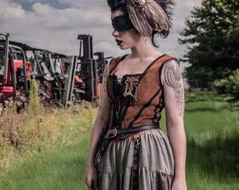 """Post-Apocalyptic Steampunk Dystopia """"Enigmatic Feather"""" Limited Signed Photo Print"""