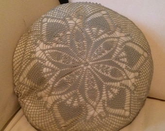Sage Hand Crocheted Pillow Cover