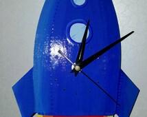 Handmade Rocket Clock