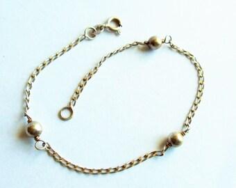 Vintage 925 Sterling Silver Italian Chain Bracelet, Sterling Silver Bracelet, Twisted Herringbone Bracelet, Italian Silver Bracelet