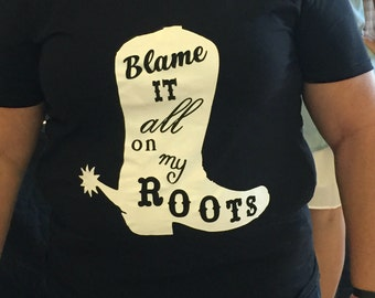 Garth Brooks Inspired, Blame It All On My Roots, Garth Brooks World Tour Concert, Garth Brooks Shirt, Garth Brooks