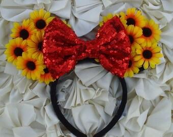 Sunflower Minnie Ears