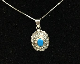Sterling silver pendant with 18 inch sterling silver necklace