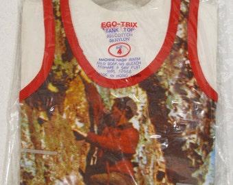 Ego-Trix  Deadstock  Kids Photoprint Tank Top Size 4
